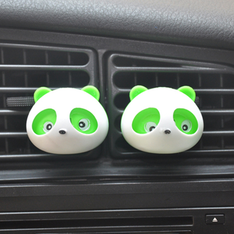 2pcs Car Perfumes Air Conditioner Vent Outlet Air Freshener 100 original Fragrance Car styling Accessories Panda Eyes Will Jump(China (Mainland))