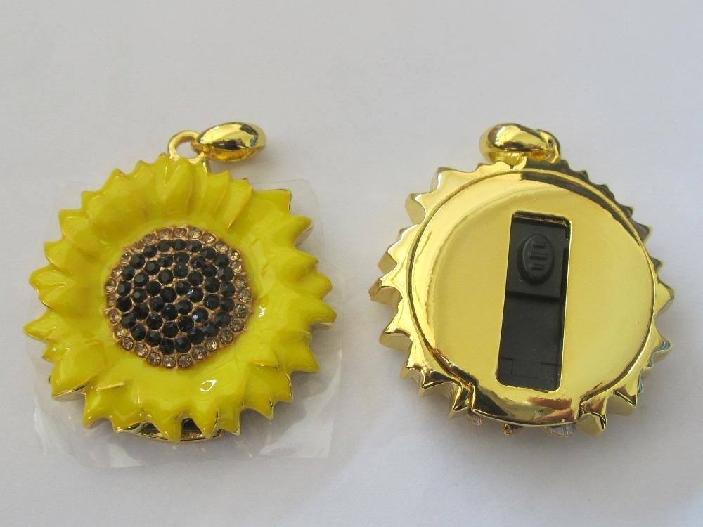 jewellery sunflower shape usb pen drive 8GB-32GB(China (Mainland))