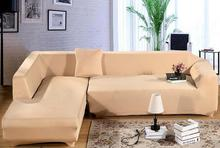 L Shape Stretch Elastic Fabric Sofa Cover Pet Corner Couch Cover Sectional  Sofa Cover Set Home