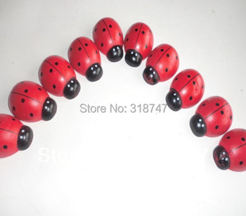 6pcs 23mm*34mm Cartoon Beetle Sponge Stickers Self Adhesive  Ladybug Wooden Handicrafts 017032006