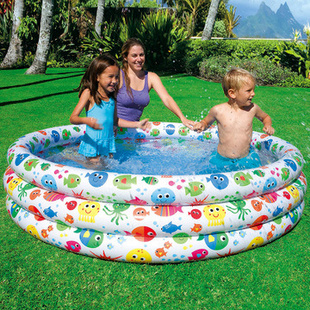 Circular family fish tank infant pool bathroom cleaning supplies large inflatable swimming pool fishing(China (Mainland))