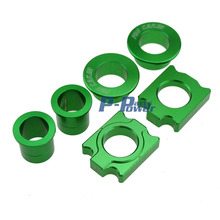 CNC Front & Rear Wheel Hub Spacers Chain Adjuster Axle Block For Kawasaki KX125 250 KXF250 KXF450 Motorcycle Motocross Dirt Bike(China (Mainland))