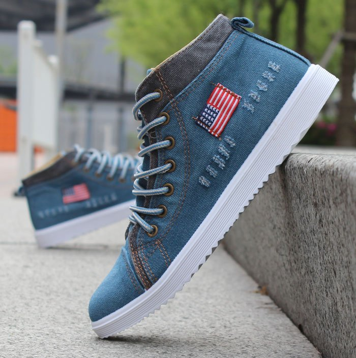 2016 Men Casual Shoes brand Male suede shoes Fashion Black White Men's Daily High Top Shoes Waterproof Ankle Boots flag(China (Mainland))
