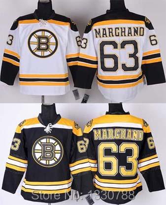 2015 Latest Men's Ice Hockey Jersey Boston Bruins #63 Brad Marchand Black Home White Away Yellow Winter Classic Sport Jerseys