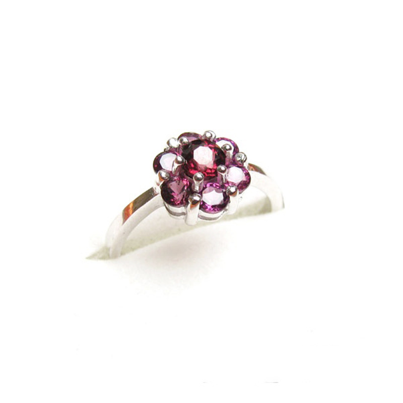 Natural Garnet Ring Rose Red Garnet Ring 925 silver platinum plating natural crystal jewelry wholesale<br><br>Aliexpress