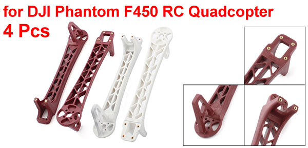 4 Pcs 8.5″ Red White Plastic Frame Arm for DJI Phantom F450 RC Quadcopter