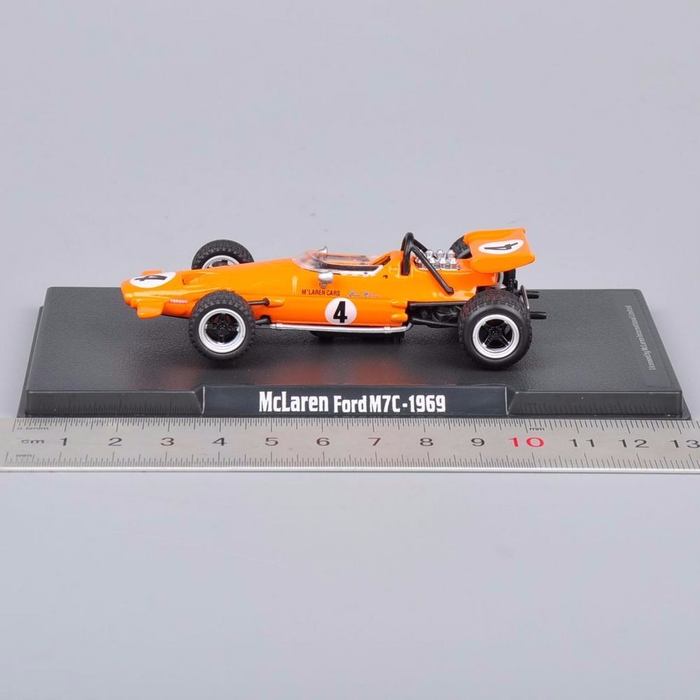 Collectible Diecast Alloy yellow No.Four Orange Mclaren Automobile Ford M7C-1969  brinquedo Toys Automobiles Children Toys Items