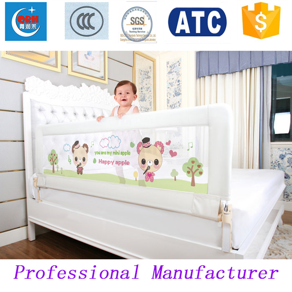 180 * 66cm One Hand Fold Baby Bed Rail Kids Bed Fence Children Bed Guard(China (Mainland))