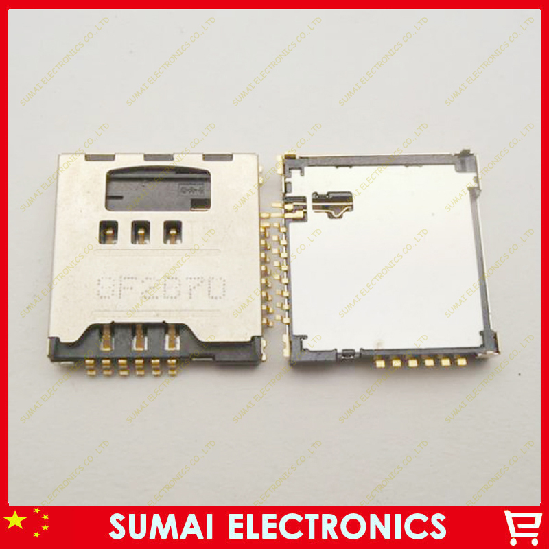 50pcs/lot SIM Card Reader Tray holder connector for Samsung I9100 M250S S6888 I997 I8250 I919U Free shipping