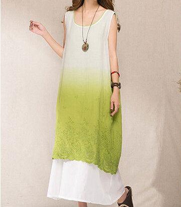 2016 New Arrival Women Clothing Cotton Dress Wholesale Two Pieces Original Design Art Van Vestidos D461(China (Mainland))