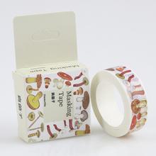 1 Pc / Pack Masking Tape 10 Meter The Fungal Sub Washi Adhesive Tape Diy Scrapbooking Sticker Label Masking Tape