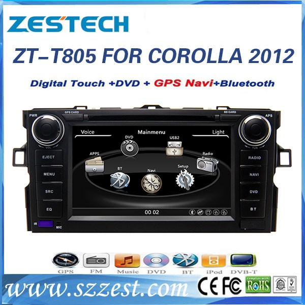 8 inch car radio with sim card for Toyota Corolla 2009 2010 2011 2012 used auto spare parts with GPS Radio SWC BT DTV ATV 3G(China (Mainland))