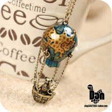 On0359 vintage accessories hot balloon long design necklace 32g