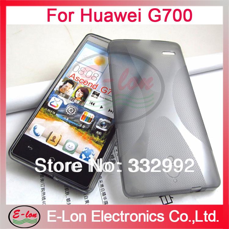 Ascend G700 Case,200pcs/Lot Wholesale,X Wave Curve X Line Soft Gel TPU Case Skin Cover For Huawei Ascend G700 J004XL(China (Mainland))