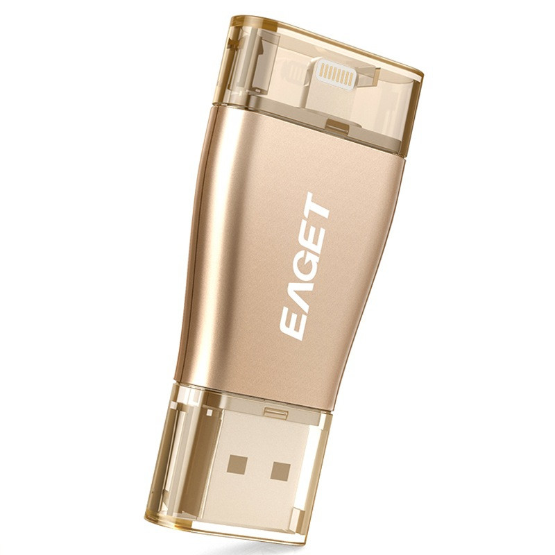 Eaget i60 OTG 100% Capacity USB 3.0 Flash Pen Drives For For iPhone iOS PC Tablet 64GB Pendrive U Disk Memory Stick Pass H2testw
