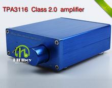 Buy NEW Breeze Audio HiFi Class 2.0 Audio Stereo Digital Power Amplifier TPA3116 Advanced 2*50W Mini Home Aluminum Enclosure amp for $19.80 in AliExpress store