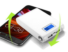 18650 12000mAh USB External Mobile Backup protable charger Powerbank Battery for iPhone mobile Phone Universal Charger