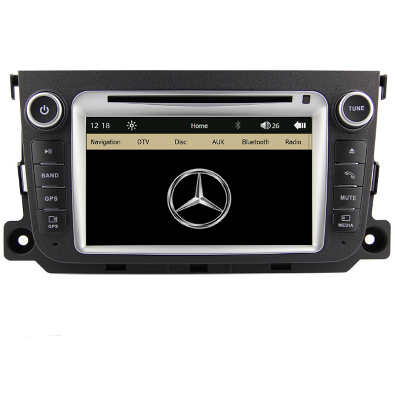 Free Shipping Car DVD Player GPS Navigation System Radio For Benz Smart Fortwo 2012 2013 Bluetooth RDS steering wheel control(China (Mainland))