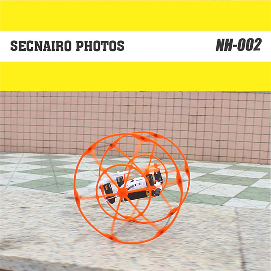 Mini Rc Quadcopter Micro 4CH 6 Axis Gyro Remote Control Airplane Model Metal RTF Cage Shape RC Wall Climbing Drone Toys for Boys
