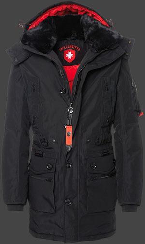 fashion brand mens Wellensteyn Questar Jacket Winter long Parka jacket coat Hooded cotton warm real fur black  -  Crise Lin's store store