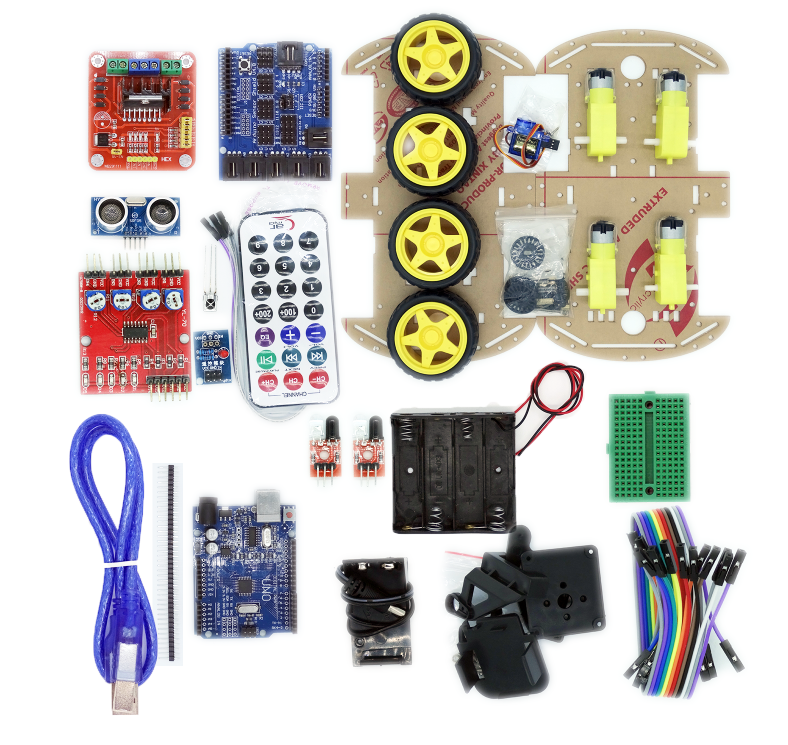 Compra kit robot arduino online al por mayor de china