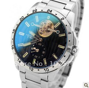 Free Shipping Men's Flywheel+Lunimus+Hollow+Colorchanging-Face Watch