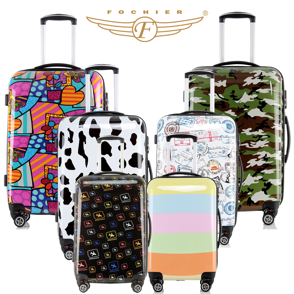 Women Men Luggage Colorful 20 24 28 inches Hard Shell Rolling Luggage Suitcase