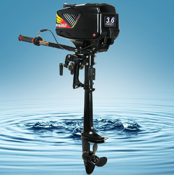 Hot Selling 4-stroke 3.6HP HANGKAI outboard motor boat engine air cooled fast shipping(China (Mainland))