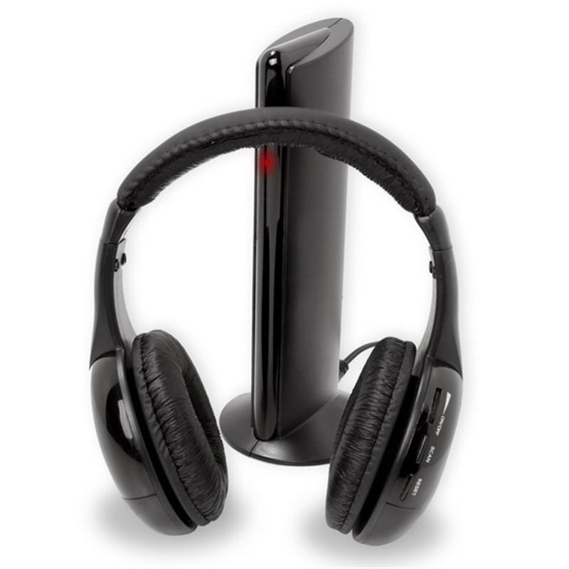 New hotsale 5in1 Wireless RF HiFi Headphones FM Earphone Headset for TV PC DVD VCD MP3 Radio(China (Mainland))