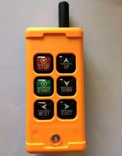 Industrial Remote Control Crane Transmitter HS-6 6 keys receiver+transmitter DC12V 24V AC36V 110V 220V 380V(China (Mainland))