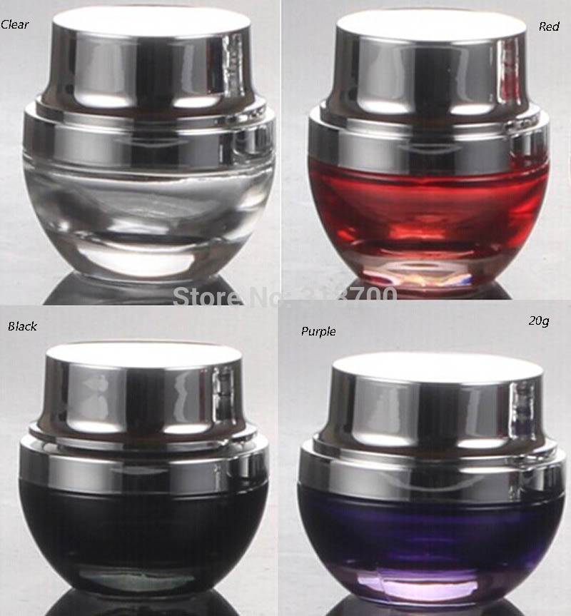 3 x 20ml Empty Glass Jar, 20cc Small Cosmetic Container, Sample Makeup Box(China (Mainland))