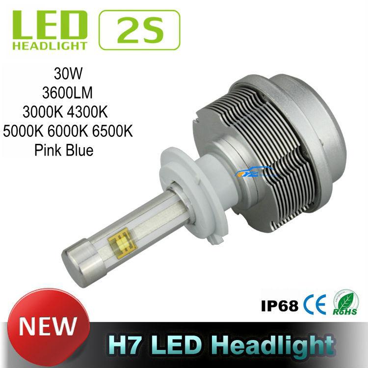 All In One LED Car Headlights Gen 2S Car LED Headlight CREE ETI Flip Chips Fanless H7 LED Headlight 30W 3600LM 4300K 5000K 6000K<br><br>Aliexpress