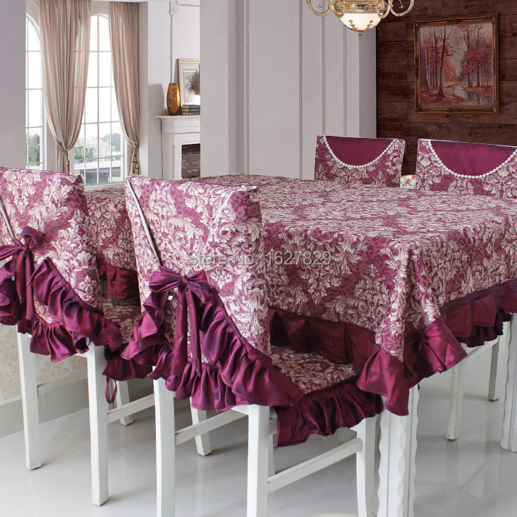 home decor embroidered tablecloths and chair covers dining table cloth rectangular table linen for whole set nappe rectangulaire(China (Mainland))