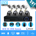 NVR DVR Home Security 8ch CCTV System CMOS 600TVL indoor Outdoor IR Camera Network DVR Recorder