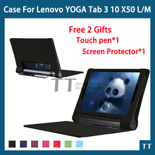 YOGA Tab 3 X50 case Ultra Slim PU Leather Case For Lenovo YOGA Tab 3 X50L X50M Tablet PC case cover + free 2 gifts