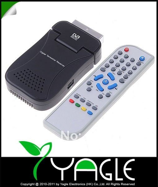 Welcome DVB-T SCART Mini TV Box Freeview Receiver Tuner Recorder, Wholesale(China (Mainland))
