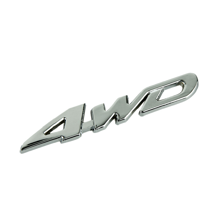 Modern Car Metal Chrome 4WD Displacement Emblem Badge All Wheel Drive Auto sticker Jul07(China (Mainland))