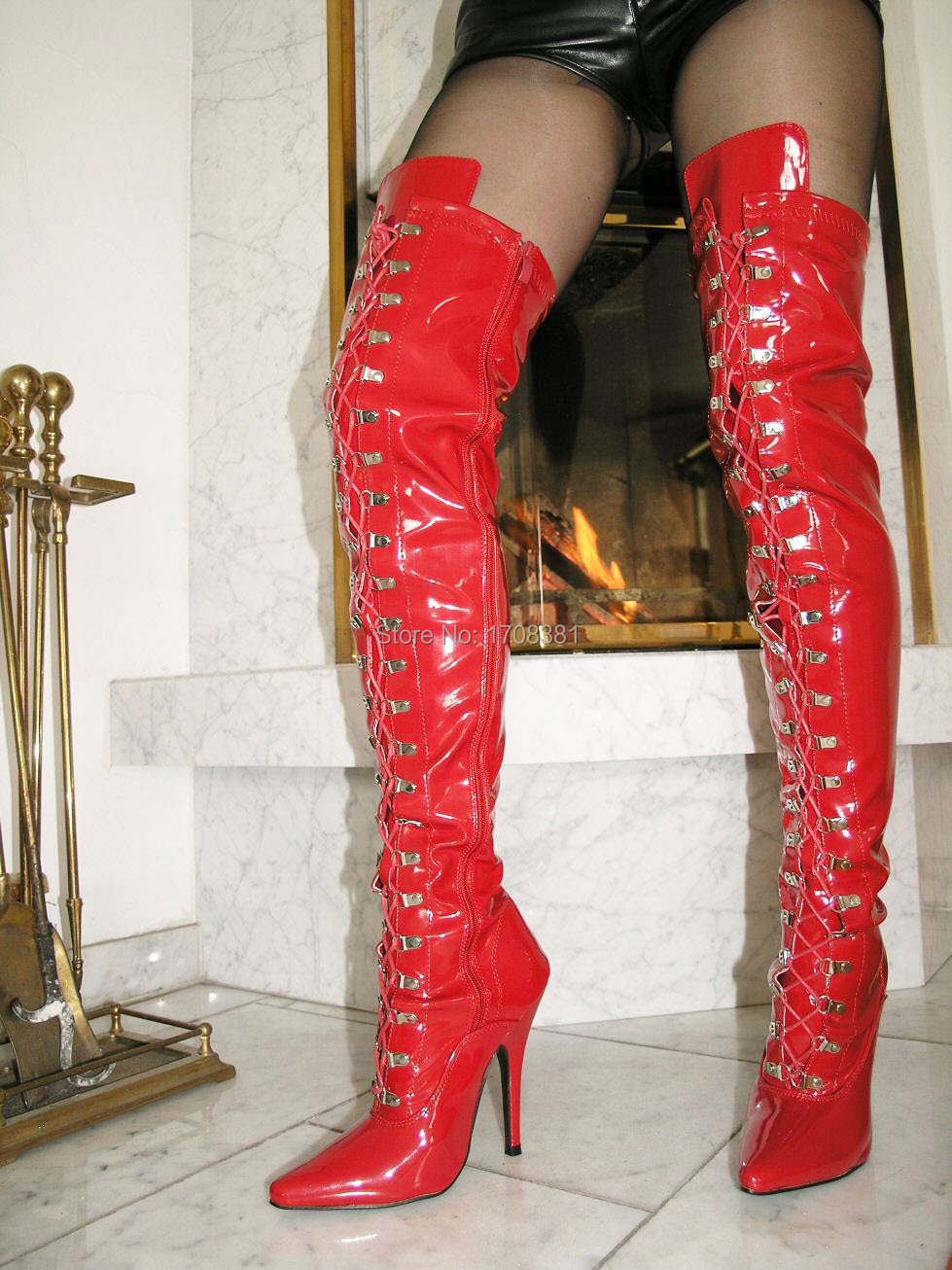 Size 12 Thigh High Boots - Cr Boot