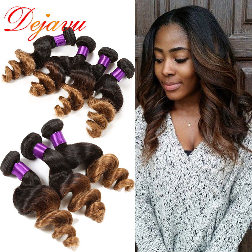 Здесь можно купить  King Hair Ombre Brazilian Hair 3pcs T1B/27 & T1B/30 7A Unprocessed Brazilian Loose Wave Virgin Hair Ombre Human Hair Extensions  Волосы и аксессуары