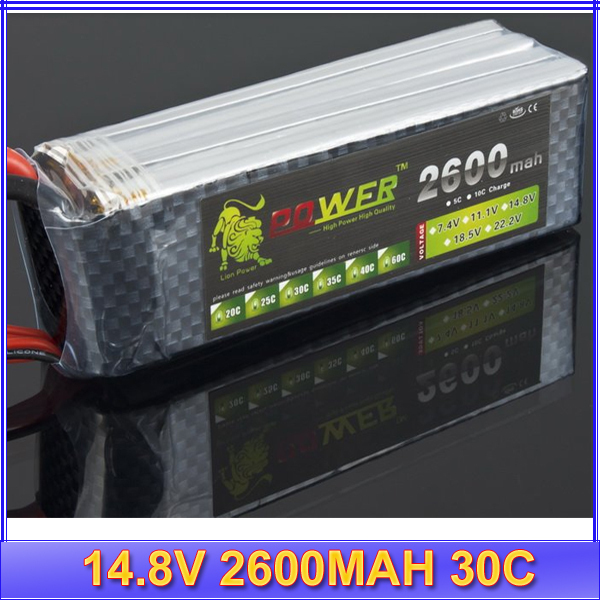 1pc Lipo Battery 4S LION 14.8V 2600MAH 30C rc plane/heicpoter lipo battery pack