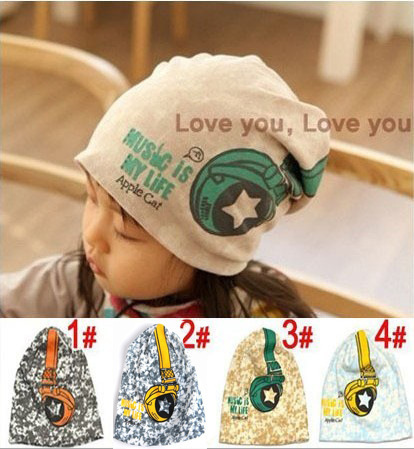 1 PCS Baby hats Kids Infant caps Toddler beanies Boys &Girls Children Skull Head Cap Floral pattern Child 1-3 Years old #0877(China (Mainland))