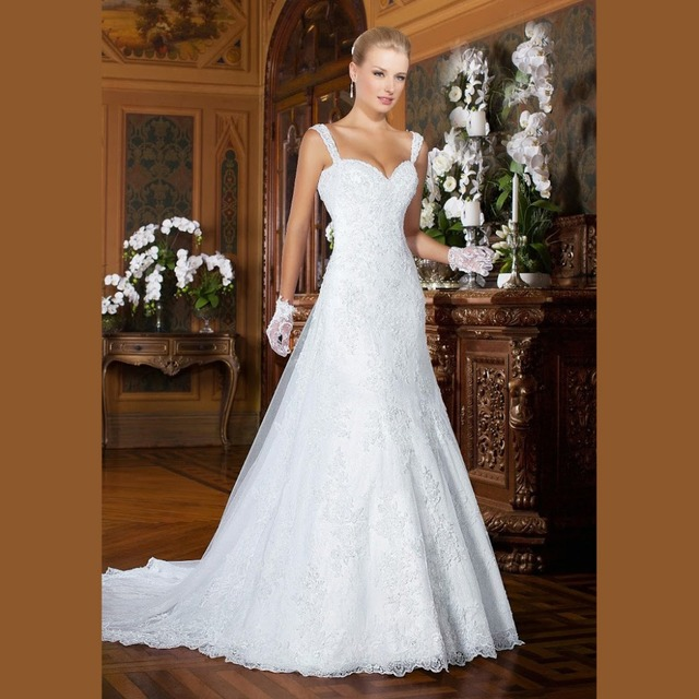 Brazil Sexy Mermaid Beaded Lace Wedding Dresses 2016 With