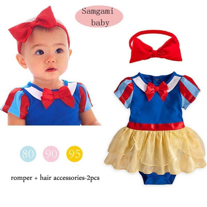 2015 new Snow White Princess Baby Girl Costume Romper Dress + Headbands NewBorn Infantil Kids Suit Toddler Clothes Bebe Clothing<br><br>Aliexpress