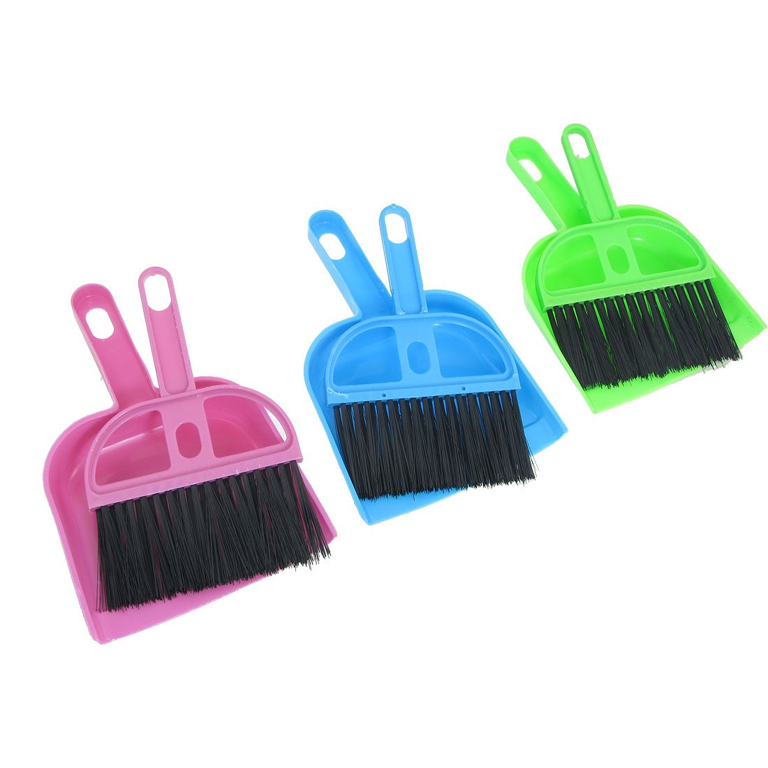 Botique Car Keyboard Cleaning Whisk Broom Dustpan Set 3 Pcs Assorted Color(China (Mainland))