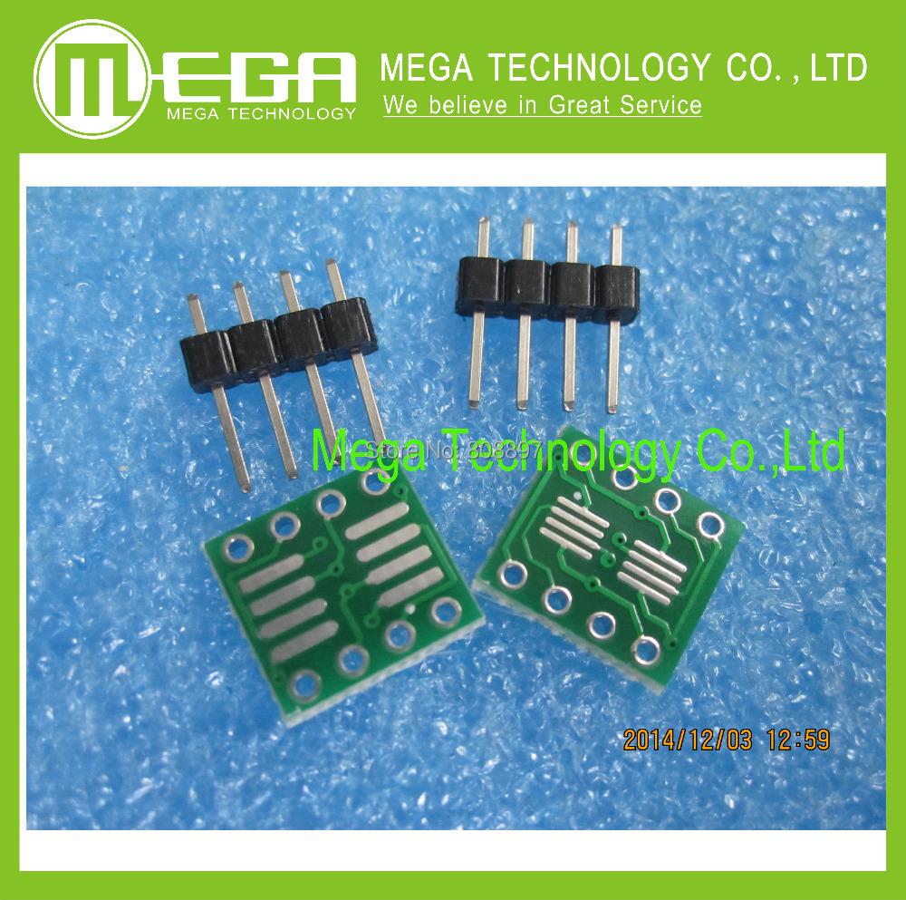 Гаджет  Free Shipping 20PCS/LOT SOP8 turn DIP8 / SOIC8 to DIP8 IC adapter Socket PB FREE with Gold-plated Pin Header None Электронные компоненты и материалы