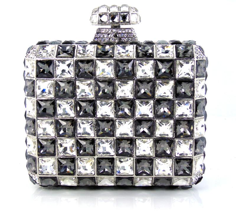 Фотография YU16-2 Crystal Evening Bag Clutch Peacock diamond pochette soiree Women evening handbag wedding party purse clutch bag