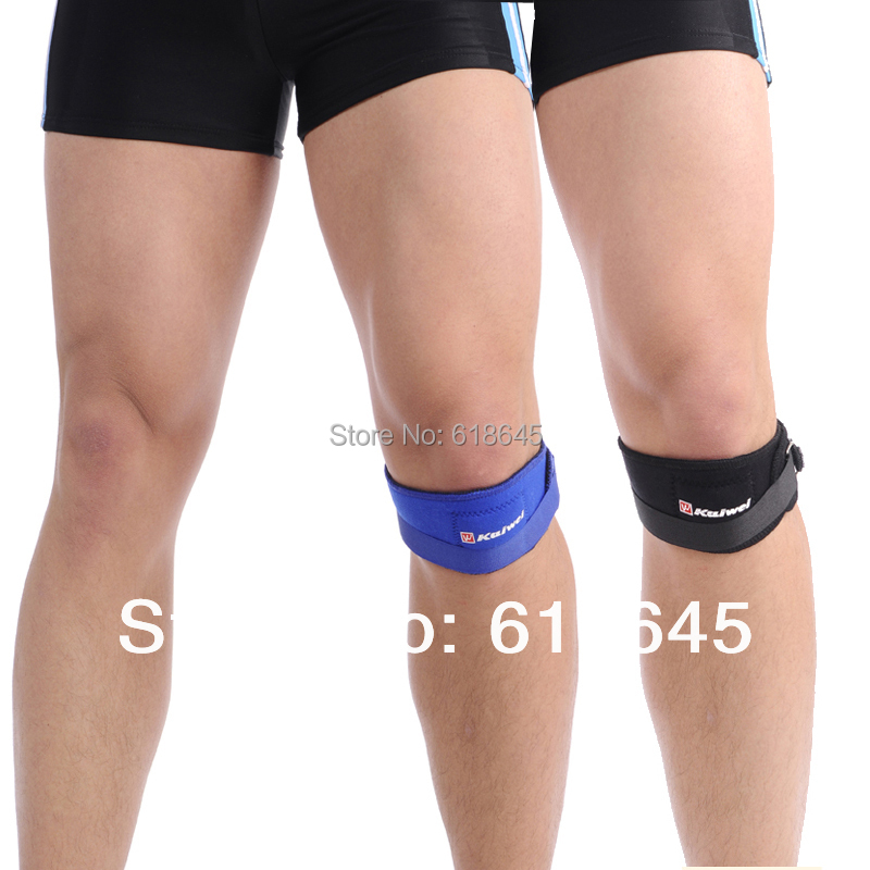2pcs/lot adjustable knee pads Patella Support Strap Brace protector protection sports equipment for fitness(China (Mainland))