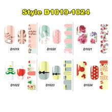 Summer Little Lady Nail Art Sticker 30 Style14pcs set High Quality Foil Decal Patch makeup beauty