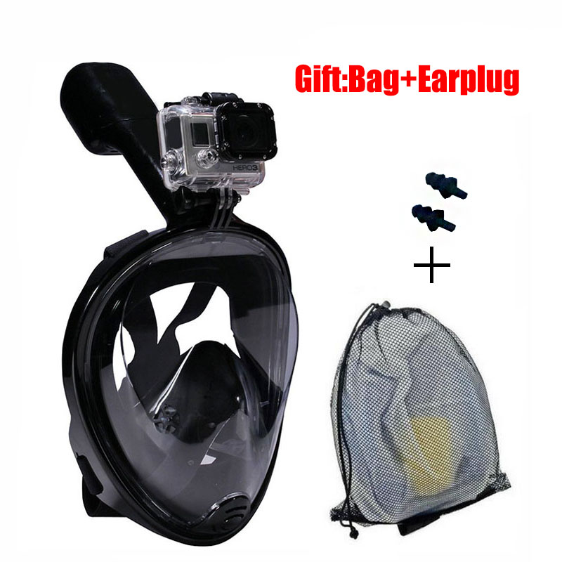 Gopro Diving Mask Full Face Spearfishing Mask Snorkel Scuba For Swimming Silicone Plastic Glasses Children/Adult Training Mask(China (Mainland))