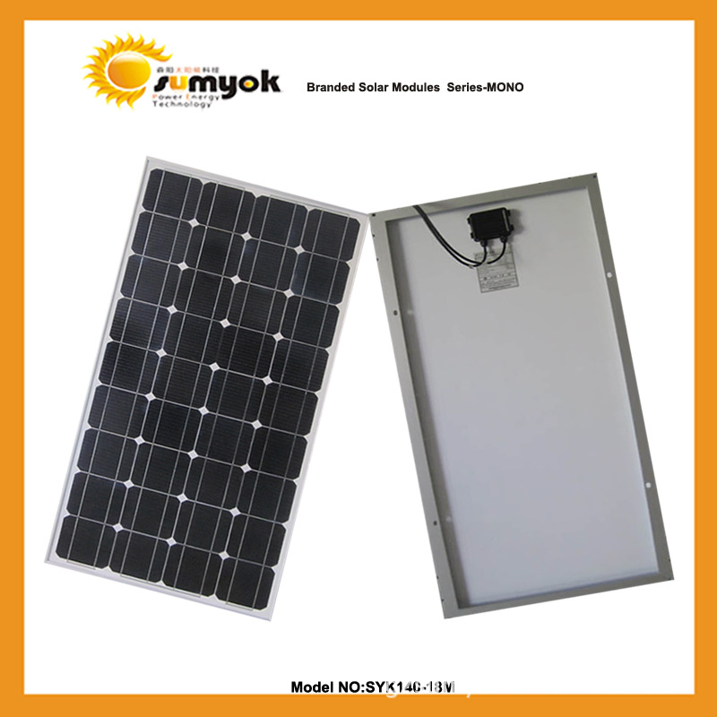 Manufacturer specializing in the production of high-power solar module solar panel 140W SYK140-18M single crystal(China (Mainland))